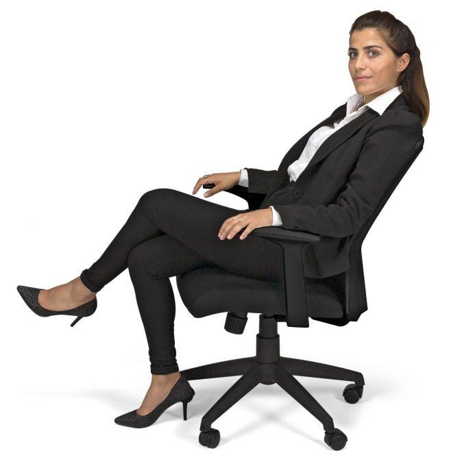 fauteuil synchrone coloris noir BALI