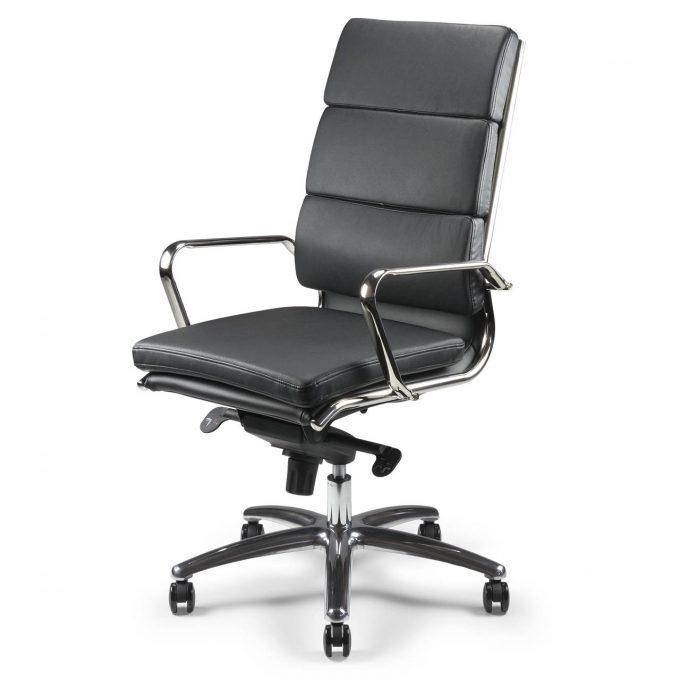 fauteuil direction etan-h cuir noir